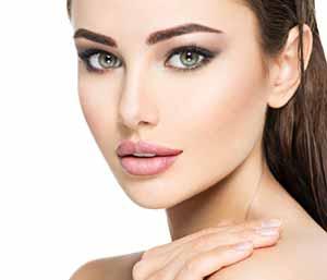 Beautiful healthy skin woman face