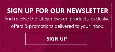 And receive the latest news on products, exclusive offers & promotions delivered to your inbox.
