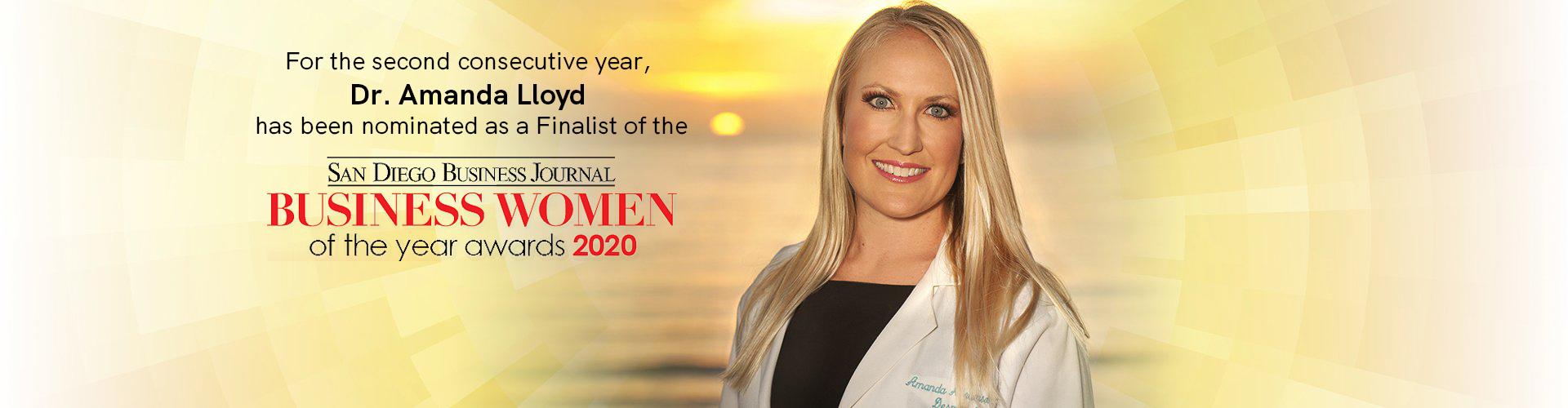 Dr. Amanda Lloyd - Nominee of San Diego Business Woman of the Year Award