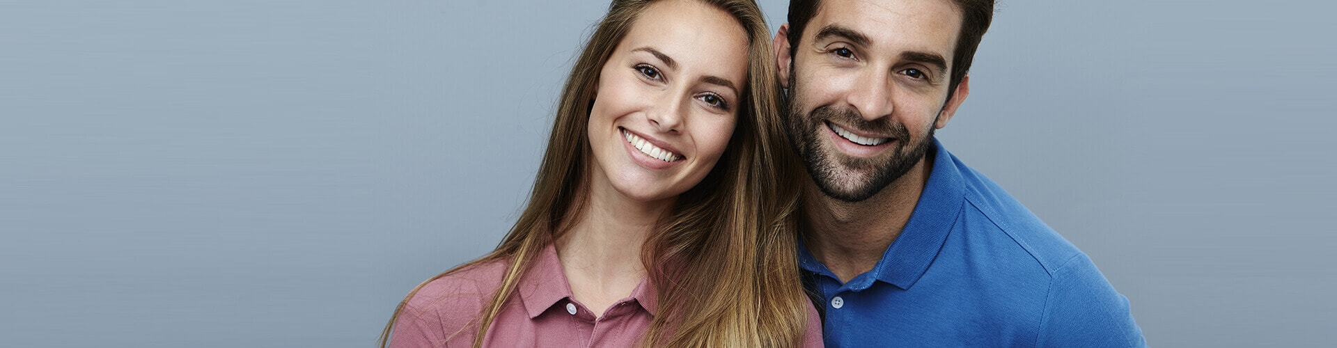 Smiling Young Woman and Man